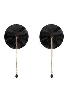 Chain Detail Nipple Pastie Black