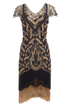Gatsby Dress black/gold