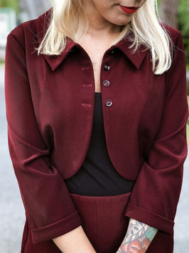 Elsie Bolero Jacket - Bordeaux