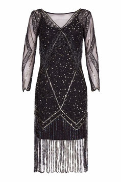 Gatsby Dress black long sleeve