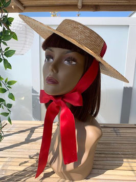Straw Hat Natural/Red