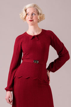 The Deco Darling Sweater - Burgundy
