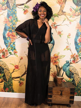 1930s Boudoir Robe - Black