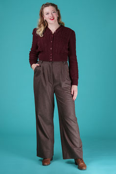 The 40s Work Pants - Brown Stripe