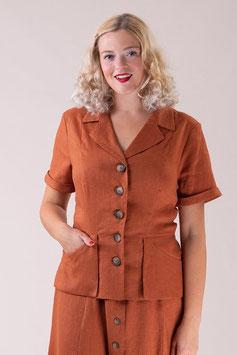 The En Route Suit Jacket - Cinnamon Linen