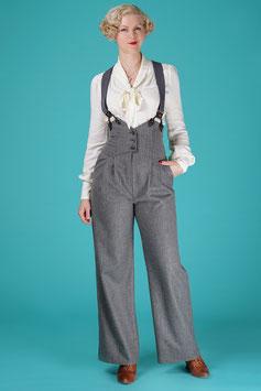 The Miss Fancy Pants Slacks - Grey Stripe