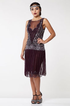 Gatsby Dress plum / silver