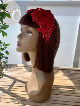 Lace Headpiece Red