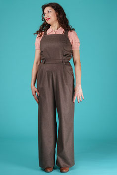The Dressy Dungarees - Brown Wool