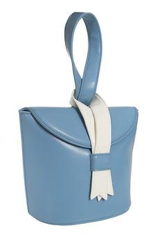 Luiza Ribbon Bag - Blue/White