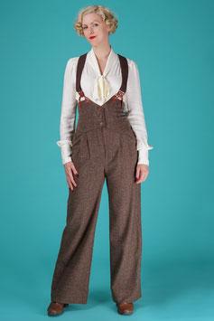 The Miss Fancy Pants Slacks - Brown Salt & Pepper
