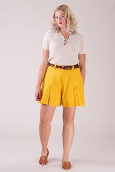 The Hayworth Holiday Shorts - Marigold Cotton