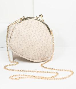 Unique Vintage Handbag - Grey/Beige