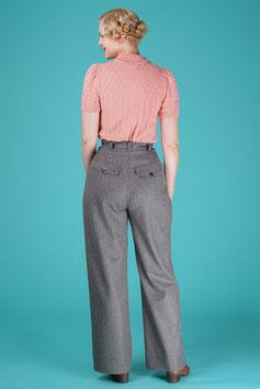 The 40s Work Pants - Grey Stripe
