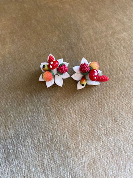 True Vintage Earrings - Clips White/Multi