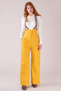 The Miss Fancy Pants Slacks - Marigold Cotton