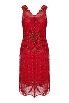 Gatsby Dress red