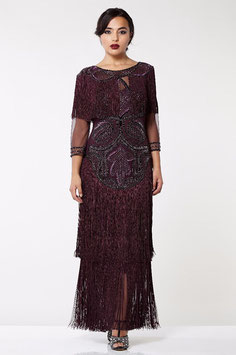 Gatsby Dress long plum
