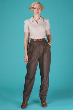 The Slender Slacks - Brown Wool