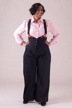 The Miss Fancy Pants Slacks - Black Twill