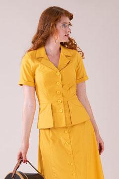 The En Route Suit Jacket - Marigold Cotton