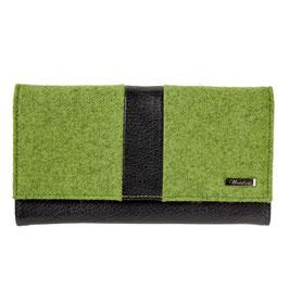 Grazia Lodengeldbörse Damen grasgrün