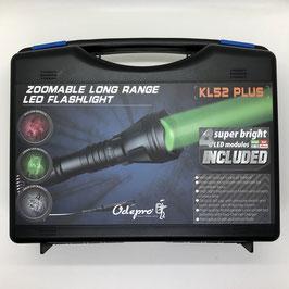 Odepro KL52 Plus, zoombare LED-Taschenlampe mit Rotlicht Grünlicht Weißlicht IR850 Licht und Kabelfernbedienung