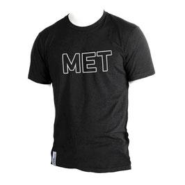 T-Shirt Men schwarz Slub Größe L