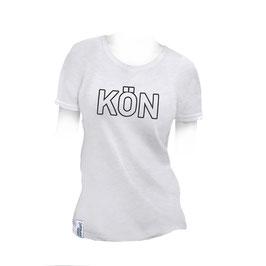 T-Shirt Frauen weiss Slub Größe L