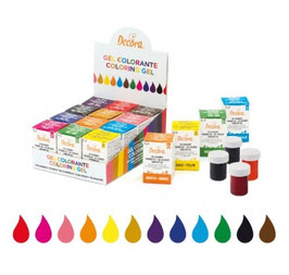 Gel colorante  28 g € 3,50 cadauno