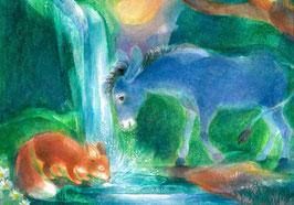 Esel und Fuchs