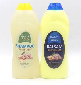 Shampoing et après-shampoing au gingembre