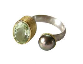 Pearl & green Amethyst