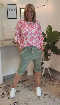 Baggy Shorts HANA mit Gliederkette Khaki