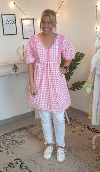 Tunikakleid LISA Weiß/Pink