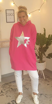 "Hoodie ""MICKEY STARS"" Pink"