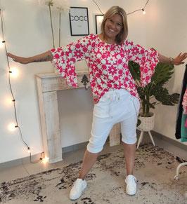 Baggy Shorts HANA mit Gliederkette Weiß