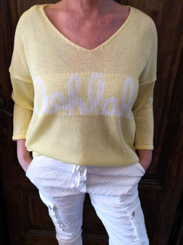 "Feinstrickpullover ""OOH LALA"" Yellow"
