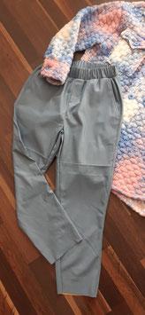Kunstlederhose Blau XL