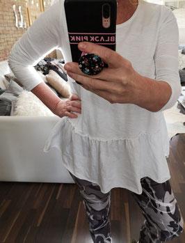 Shirt SOPHIE Volant Weiß