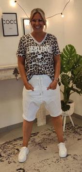 Baggy Bermudashorts Weiß