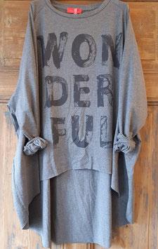 Jerseyshirt WONDERFUL Grau