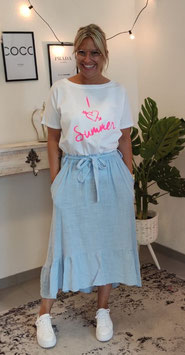 Tshirt I <3 Summer Weiß/Pink