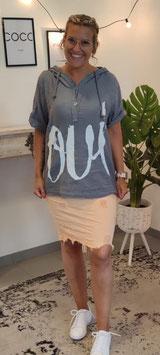 """Tshirt """"OUI"""" Grau LINO"""
