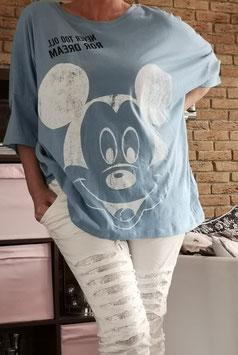 MICKEY Oversize Tshirt Himmelblau