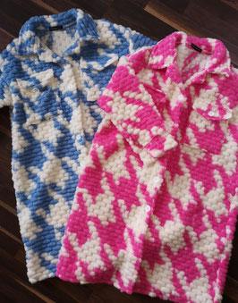 CANDY Hahnentritt Mantel Pink
