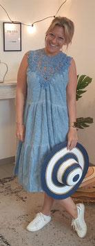 A - Linien Kleid AMY Blau