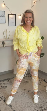 Bluse SHINY DOTS Gelb