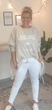 """Shirt """"LIEBLINGSMENSCH"""" Beige"""