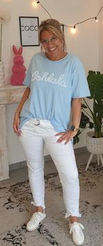 """Shirt """"OHLALA"""" Hellblau"""